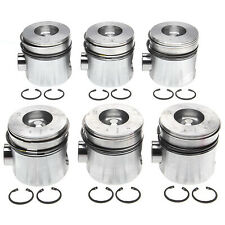 MAHLE Pistons w/Rings FITS 1994-1998 5.9L Dodge Cummins Ram 12v SET OF 6 +.020