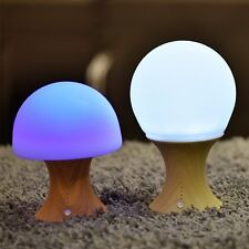 Mushroom Lamp, MECO Color Changing Night Lamp Silicone Rechargeble