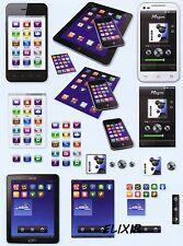 FEUILLE 3D OBJETS CONNECTES TELEPHONE MOBILE TABLETTE. DECOUPAGE 3D GEEK PHONE