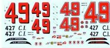 Plastic Performance Products #49 Ford 1964-GC Spencer Nascar decal