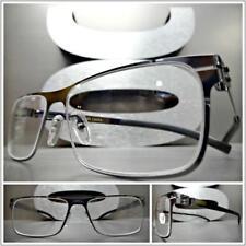 Men's SOPHISTICATED Clear Lens EYE GLASSES Lightweight Flexible Gunmetal Frame