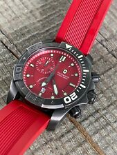 Victorinox Swiss Army Red Dive Master 500 60/60 Chrono Watch 241422 Red Strap