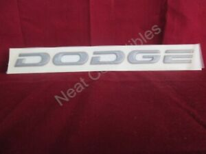Dodge Intrepid Left Rear Trunk Nameplate Emblem 1993 Medium Quartz New