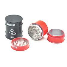 1 x Metal Tobacco Red Oil Barrel Grinder 3 Part Herbal herb Crack Crusher Muller