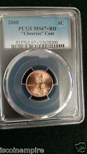 """2000 PCGS MS67+RD  """"CHEERIOS CENT"""""""