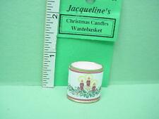 Dollhouse Miniature Christmas Wastebasket Jacquelines #8138 Candles Design