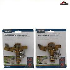 Brass Impact Sprinkler Head, No 55032, Orbit Underground ~ 2 Pack