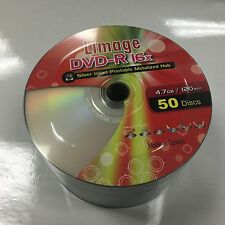 600 LIMAGE 16X DVD-R DVDR Silver Inkjet Metalized HUB Printable Disc Media 4.7GB