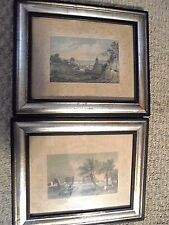 RARE VINTAGE-TWO PICTURES-GREENHITHE KENT-CHELSEA HOSPITAL MIDDLESEX-FRAMED-LOOK
