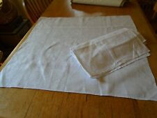More details for pair of vintage  irish linen damask table napkins -22 x 24 inches