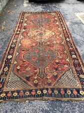 Qashqai Ghashghai Antique Oriental Rug 5'7�x12'6� Orange