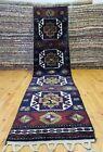 "Rare 1960-1980s Vintage Wool Pile 2'5×9'9""Natural Dyes Armenian Runner Rug"