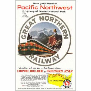 1953 Great Northern Railway: Glacier Park Pacific Northwest Vintage Print Ad