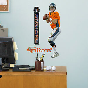 "Peyton Manning FATHEAD JUNIOR NFL Wall Graphics 11"" x 2'8"" Broncos 2014/15 NIKE"
