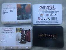 El paquete de tarjeta de perfil de reinos caído El Hobbit Señor de los anillos gw 2020 Nuevo
