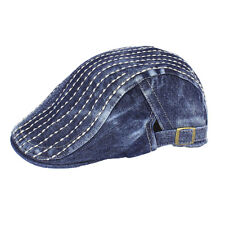 Denim Newsboy Jean Gatsby Cap Ivy Hat Golf Driving Summer Flat Cabbie XT-SL