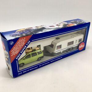 Siku Car & Caravan Scale 1:55 Green Estate Car & Caravan Model Item Number 2532