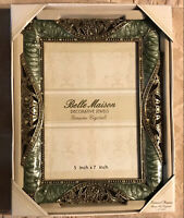 """Belle Maison Decorative Jewels Crystal Enamel Picture Frame 6 3/4 X 9"""" In Box"""