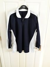 Orion navy & white long sleeve reversible school rugby shirt / PE top size 34-36