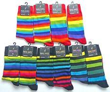 Novelty Rainbow Stripey Striped Multi Colour Pattern ANKLE Socks Men/Women Sizes