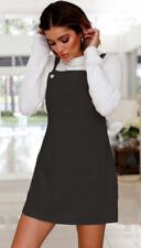 UK Women Retro Strappy Mini Dress Ladies Casual Pinafore Dungaree Skater Dress