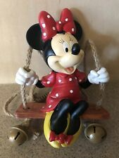 """Disney Swing 'N' Ring """"Minnie Mouse"""" Garden Statue - New in Box"""