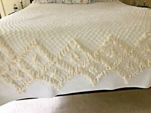 Fishnet Canopy Top Hand Tied Tasseled Queen Size