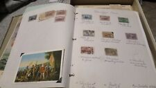 SET OF 12 US 1893 COLUMBIAN ISSUE STAMPS AND POSTCARD