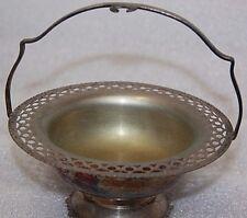 antique silver plate vintage small jam basket sugar bowl small basket item 70