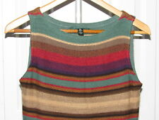 f8ba4b9788ca58 Ralph Lauren Cottton Linen Indian Blanket Sleeveless Dress PS Petite S