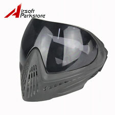 Paintball Airsoft Anti-fog Safety Goggles Full Face Mask Protector w/ Black Lens
