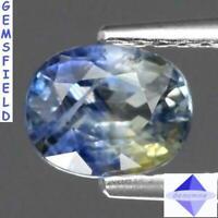 VS !! 1.01ct SAPHIR de SRI LANKA ex - ceylan lumineux bleu ciel varié poli AAA++