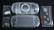PSP 1000 1XXX Clear Transparent Crystal Full Housing Kit - UK Dispatch