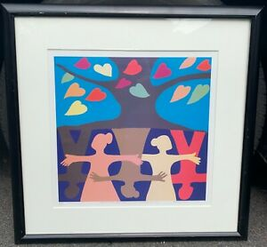 RICHARD HAYNES JR Roots and Branches -Millenium Unity AFRICAN AMERICAN Serigraph