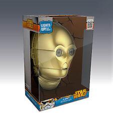 Star Wars 3D FX Deco LED Luce di notte C-3PO Faccia Lampada Luce Parete