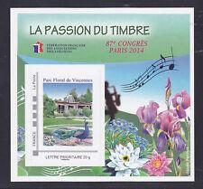 BLOC FFAP N°  9 ** MNH neuf, 87 ème Congrès PARIS 2014, TB