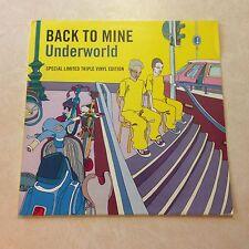 Underworld Back To Mine 3xVinyl LP DMC UK 2003 [tags: Aphex Twin Depeche Mode]