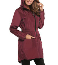 Women's Waterproof Lightweight Rain Jacket Coat Outdoor Hooded Packable Raincoat