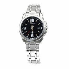 Casio Women's LTP1314D-1AV Silver Stainless-Steel Quartz Watch Black Dial