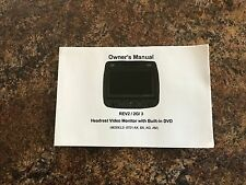 2007 2008 2009 Chevrolet Suburban Avalanche REV2 DVD Video Monitor Owners Manual