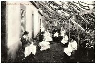 Embroidery Workers Madeira Island Portugal Vintage Postcard RPPC