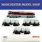 "Piko 58130-S HO 1:87 BR 131 Diesel locomotive & 3x Kalkkübelwagen DR ""DCC-SOUND"""