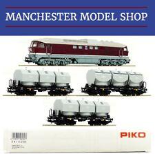 """Piko 58130 HO 1:87 BR 131 Diesel locomotive & 3x Kalkkübelwagen DR """"DCC-SOCKET"""""""