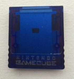 Nintendo GameCube Memory Card 59 Clear Blue & Red Pokemon Pocket Monster