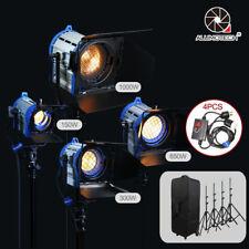 As Arri 150W+300W+650W+1000W Pro Film Tungsten Spot light+Case+Stand+4 Dimmer