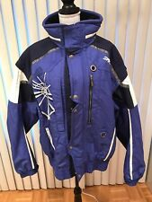 Spyder Blue White Trinsulate Insulated Men Jacket XXL Winter Ski Zip Up Hooded