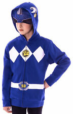 The Power Rangers Boys Mesh Face Covering Full-Zip Costume Hoodie