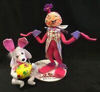 "Annalee Easter Puppy 6"" & Spring Elf 12"" New With Tags"