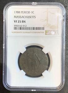 1788 Period 1c Massachusetts VF 25 BN NGC