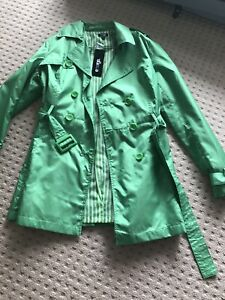 New emerge bright green trench coat 14